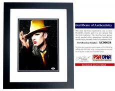 Boy George Signed - Autographed Culture Club 11x14 inch Photo with PSA/DNA Authenticity BLACK CUSTOM FRAME
