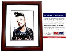 Boy George Signed - Autographed Culture Club 11x14 inch Photo with PSA/DNA Authenticity MAHOGANY CUSTOM FRAME