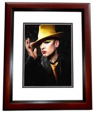 Boy George Signed - Autographed Culture Club 11x14 Photo MAHOGANY CUSTOM FRAME