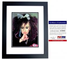 Boy George Signed - Autographed Culture Club 8x10 Photo with PSA/DNA Authenticity BLACK CUSTOM FRAME