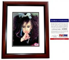 Boy George Signed - Autographed Culture Club 8x10 Photo with PSA/DNA Authenticity MAHOGANY CUSTOM FRAME