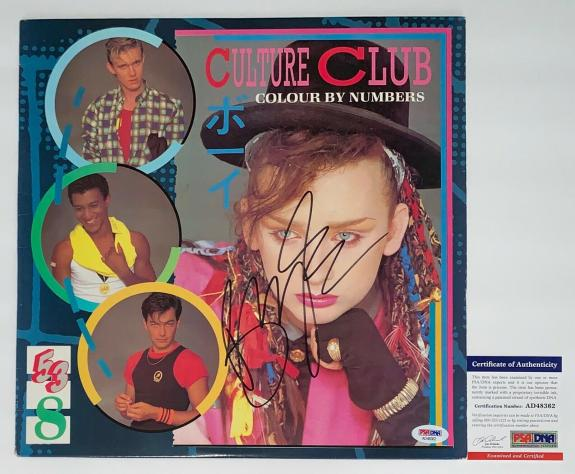 Boy George Signed Culture Club Colour By Numbers Record Album Psa Coa Ad48362