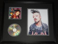 Boy George Signed Framed 16x20 Culture Club CD & Photo Display
