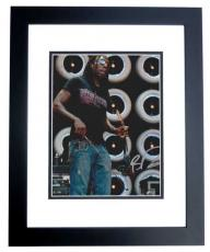 Boyd Tinsley Autographed Dave Matthews Band Concert 8x10 Photo BLACK CUSTOM FRAME
