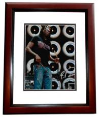 Boyd Tinsley Autographed Dave Matthews Band Concert 8x10 Photo MAHOGANY CUSTOM FRAME