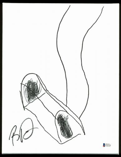 Boyd Tinsley Dave Matthews Band Signed 11x14 Shoe Canvas Sketch BAS #C63338