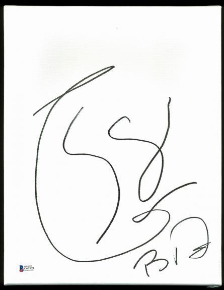 Boyd Tinsley Dave Matthews Band Signed 11x14 Symbol Canvas Sketch BAS C63339