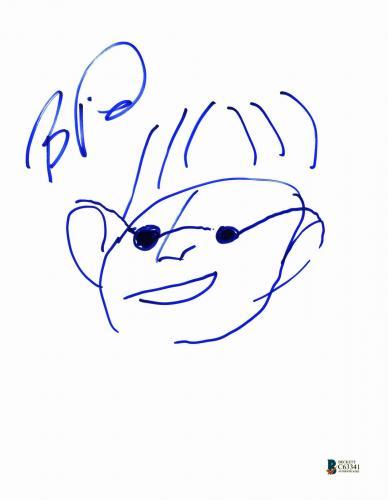 Boyd Tinsley Dave Matthews Band Signed 8.5x11 Sketch Photo BAS #C63341