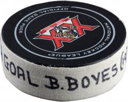 BOYES, BRAD (PANTHERS) GOAL PUCK (3/29/14) VS. MTL - Mounted Memories