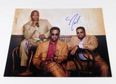 Boys II Men Signed 11 x 14 Color Photo Pose #1 3 Autos