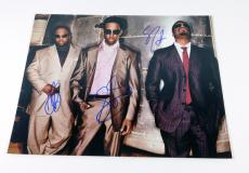 Boys II Men Signed 11 x 14 Color Photo Pose #3 3 Autos