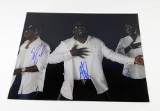 Boys II Men Signed 11 x 14 Color Photo Pose #6 3 Autos