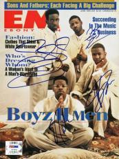 Boyz Ii Men (4) Morris, Stockman, Mccary & Morris Signed Magazine PSA #U14322