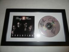"Boyz Ii Men Signed Framed ""evolution"" Cd Cover  Nathan Shawn Wanya All 3"