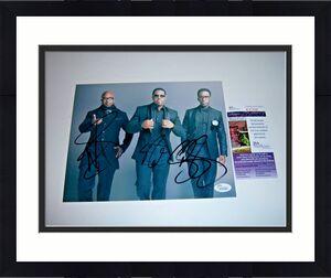 Boyz To Men Wanya Morris,shawn Stockman,nathan Morris Jsa/coa Signed 8x10 Photo