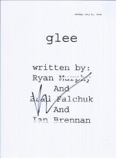 Brad Falchuk Signed Autographed Glee Full Pilot Episode Script Show Creator