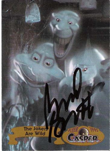 """BRAD GARRETT """"CASPER"""" Voice of FATSO Signed 1995 FLEER Card"""