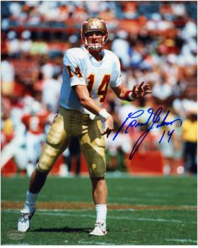Brad Johnson Florida State Seminoles Autographed 8'' x 10'' Photograph - Mounted Memories