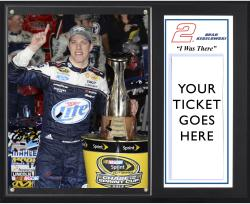 """Brad Keselowski 2013 Bank of America 500 Sublimated 12"""" x 15"""" I Was There Plaque"""