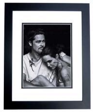 Brad Pitt and Angelina Jolie Signed - Autographed 8x10 Photo - BLACK CUSTOM FRAME