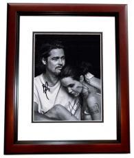 Brad Pitt and Angelina Jolie Signed - Autographed 8x10 Photo - MAHOGANY CUSTOM FRAME