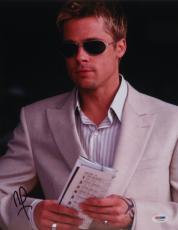 Brad Pitt Autographed 11x14 PSA/DNA