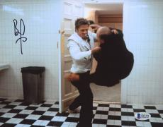 "Brad Pitt Autographed 8"" x 10"" Fight Club Fighting Photograph - Beckett COA"