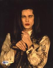 "Brad Pitt Autographed 8"" x 10"" Interview with Vampire Holding Sword Photograph - Beckett COA"