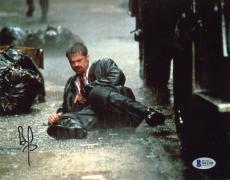 """Brad Pitt Autographed 8"""" x 10"""" Seven In Rain Photograph - Beckett COA"""