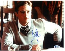 """Brad Pitt Autographed 8""""x 10"""" A River Runs Through It At Desk Photograph - Beckett COA"""