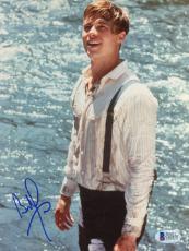 """Brad Pitt Autographed 8""""x 10"""" A River Runs Through It Standing in Water Photograph - Beckett COA"""