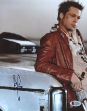 "Brad Pitt Autographed 8""x 10"" Fight Club Leaning Against Car Photograph - BAS COA"