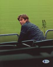 "Brad Pitt Autographed 8""x 10"" Moneyball Sitting in Stands Photograph - BAS COA"