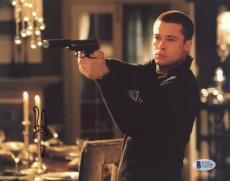 "Brad Pitt Autographed 8""x 10"" Mr. & Mrs. Smith Black Sweater Photograph - BAS COA"