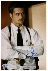 """Brad Pitt Autographed 8""""x 10"""" Seven With Arms Crossed Photograph - Beckett COA"""