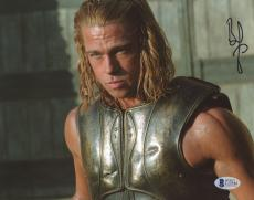 "Brad Pitt Autographed 8""x 10"" Troy Body Armor Photograph - BAS COA"