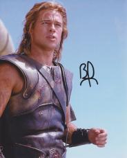 Brad Pitt Autographed Achilles in TROY 8x10 Photo