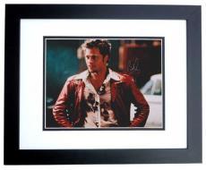 Brad Pitt Autographed FIGHT CLUB 8x10 Photo BLACK CUSTOM FRAME