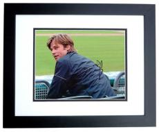 Brad Pitt Autographed MONEY BALL 8x10 Photo BLACK CUSTOM FRAME