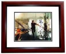 Brad Pitt Autographed MR and MRS SMITH 8x10 Photo MAHOGANY CUSTOM FRAME