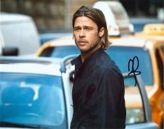 Brad Pitt Autographed WORLD WAR Z 8x10 Photo