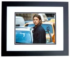 Brad Pitt Autographed WORLD WAR Z 8x10 Photo BLACK CUSTOM FRAME