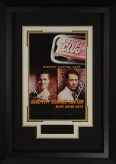 Fight Club Brad Pitt Edward Norton Signed 11x17 Poster Frame