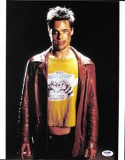 Brad Pitt Fight Club Signed 11X14 Photo Autographed PSA/DNA #P72469