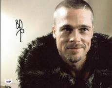 Brad Pitt Fight Club Signed 11x14 Photo Autographed Psa/dna #x31138