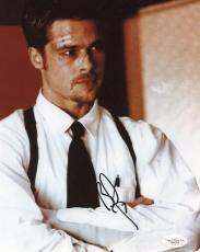 Brad Pitt Fight Club Signed 8x10 Photo Autograph Jsa #d86003