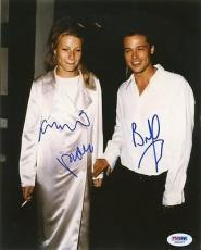 Brad Pitt & Gwyneth Paltrow Signed 8x10 Photo Psa/dna #j00477