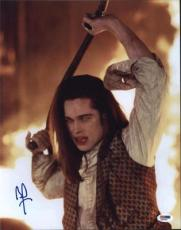 Brad Pitt Interview With A Vampire  Autographed 11x14 Photo Psa/dna  Q31046