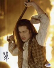 Brad Pitt Interview with Vampire Autographed Signed 8x10 Photo Certified PSA/DNA