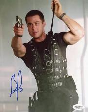 Brad Pitt Mr. & Mrs. Smith Signed 8x10 Photo Autograph Jsa #e48305